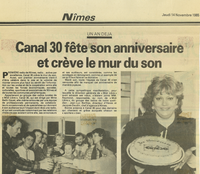 Anniv Article Canal 30